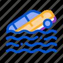 accident, business, car, crash, sea, ship icon