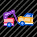 auto, broken, car, tow, truck