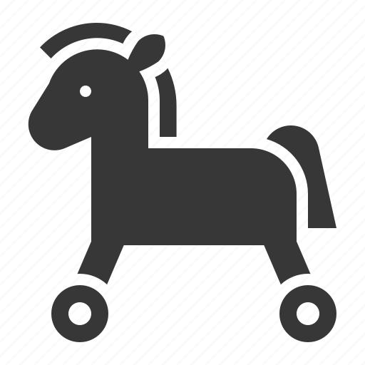 bauble, game, horse, plaything, rolling horse, toy icon