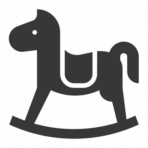 bauble, game, horse, plaything, rocking horse, toy icon