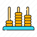 abacus, brain practice, calculator, mathematics, tools and utensils icon