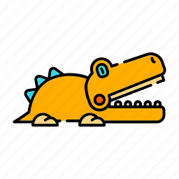 alligator, animal, crocodile toy, jaws, wildlife icon