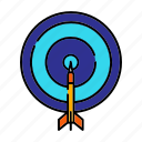 archery, bullseye, dart, sport and competition, target icon