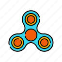 entertainment, fidget spinner, hand spinner, toy, trends icon