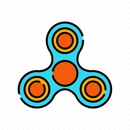 entertainment, fidget spinner, hand spinner, toy, trends icon