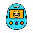 electronic, game, handheld digital pet, leisure, retro icon