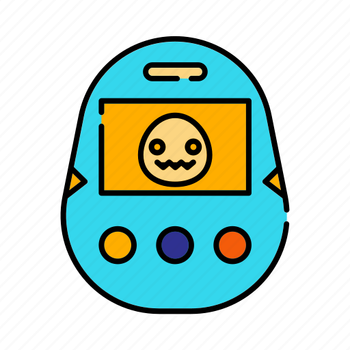 electronic, game, handheld digital pet, leisure, retro icon