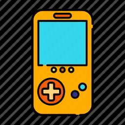 console, entertainment, handheld video game, portable, retro icon