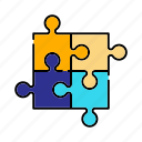 jigsaw, piece, puzzle, shape, toy icon