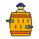 barrel, luck, pop-up pirate, stab, toy icon