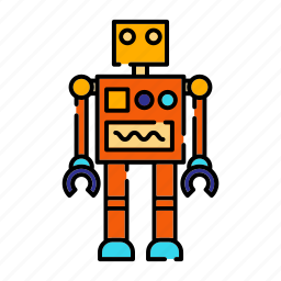 childhood, plastic, robot, science, toy icon
