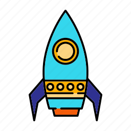 rocket, science, space, toy, vehicle icon