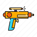 childhood, laser gun, pistol, toy gun, water gun icon
