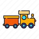 children, railway, toy, train, transportation icon