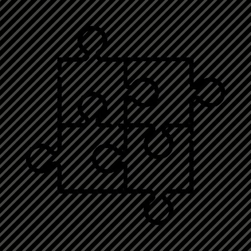 jigsaw, piece, puzzle, shape, toy icon