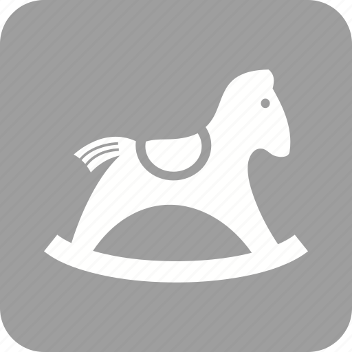 christmas, gift, horse, rocking, toy, wooden icon