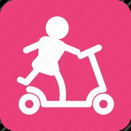 cartoon, childhood, motor, scootie, toy, toys, wheel icon