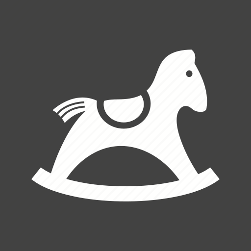 christmas, gift, horse, rocking, toy, wood, wooden icon