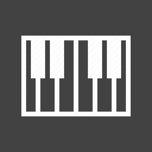 fashion, instrument, keyboard, keys, music, piano icon