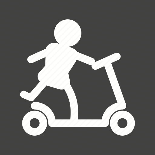 cartoon, childhood, motor, scootie, toy, toys, wheel icon