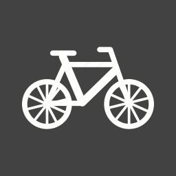 bicycle, bike, chain, frame, seat, tire, wheel icon