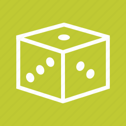 casino, chance, cube, dice, gambling, game, rolling icon