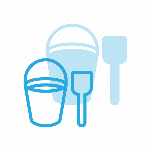 beach, bucket, game, shovel, toy icon