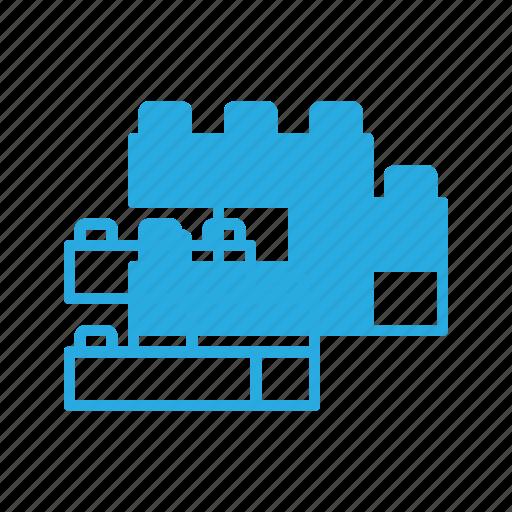blocks, building, construction, cube, lego, toy icon