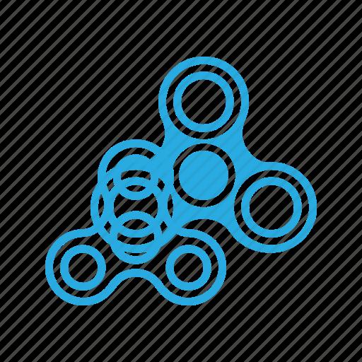 fidget, spinner, toy, trend icon