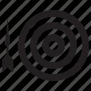 bull's eye, bulls eye, bullseye, centre, darts, game, target icon