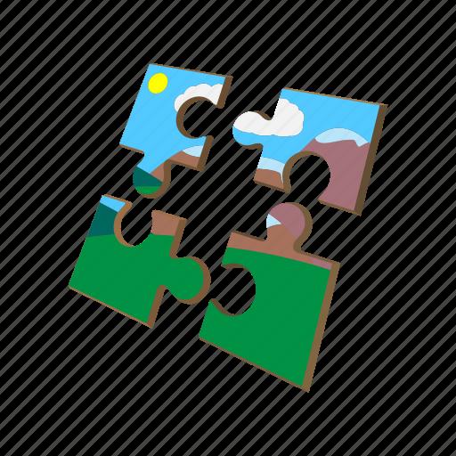cartoon, idea, jigsaw, match, part, piece, puzzle icon