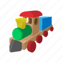 cartoon, children, locomotive, play, toy, train, wooden icon