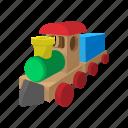 cartoon, children, locomotive, play, toy, train, wooden