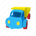 car, cartoon, child, fun, plastic, toy, vehicle icon