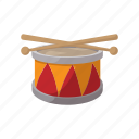 cartoon, drum, instrument, music, musical, percussion, sound icon