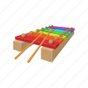 cartoon, colorful, instrument, music, musical, toy, xylophone icon