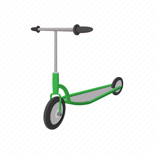 cartoon, fun, scooter, sport, toy, transportation, wheel icon