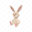 bunny, cartoon, cute, easter, fluffy, rabbit, toy