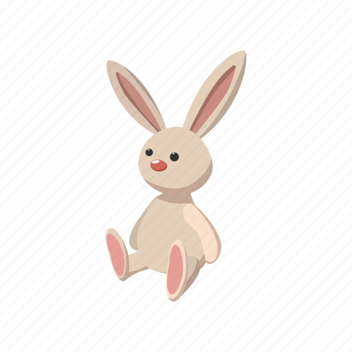 bunny, cartoon, cute, easter, fluffy, rabbit, toy icon