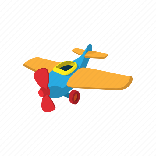 aircraft, airplane, aviation, cartoon, plane, toy, transport icon
