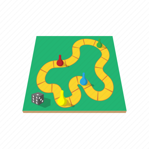 board, cartoon, chips, dice, game, start, strategy icon