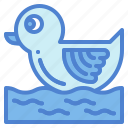baby, bathing, childhood, duckling, toy icon