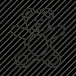 apron, baby, bear, bear toy, bib, chef, infant icon