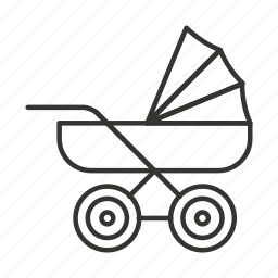 baby, carriage, cart, new born, pram, stroller icon