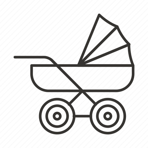 baby, carriage, cart, new born, pram, stroller icon