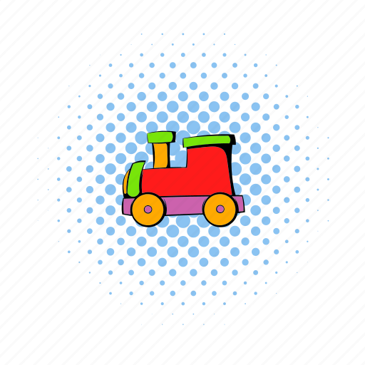 children, comics, locomotive, play, toy, train, wooden icon
