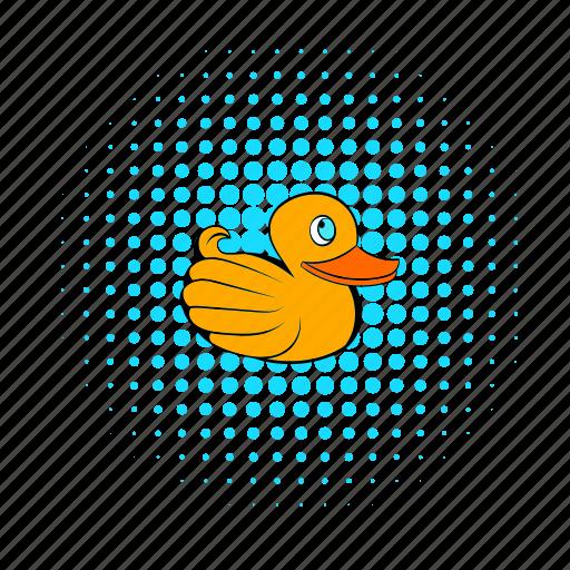 bath, bathtub, child, comics, duck, pets, toy icon