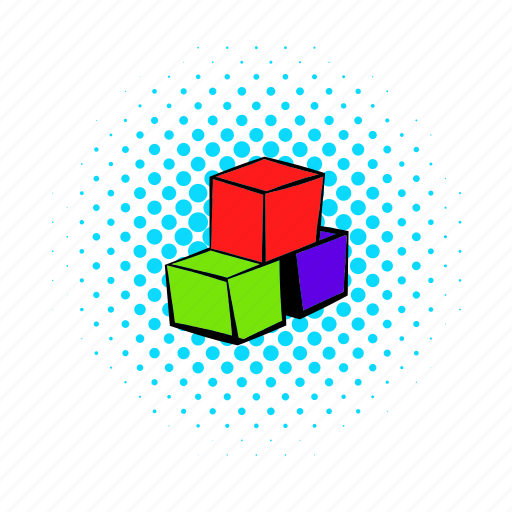 child, childhood, comics, cube, game, play, toy icon