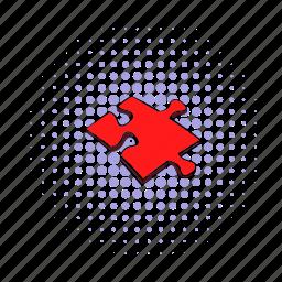 comics, idea, jigsaw, match, part, piece, puzzle icon
