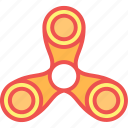 child, fidget, game, kid, play, spinnner, toy icon